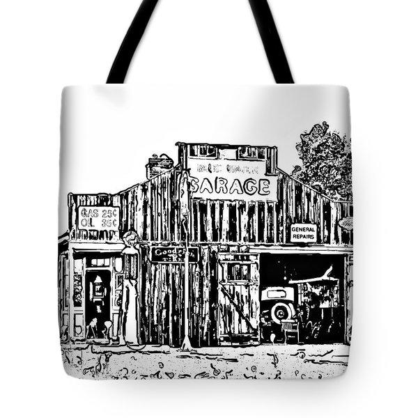 A Simpler Time Line Art Tote Bag by Steve Harrington
