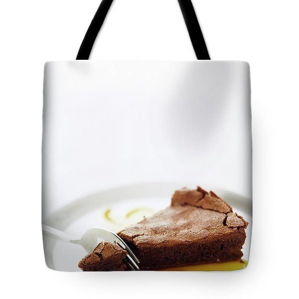 A Slice Of Chocolate Cake Tote Bag