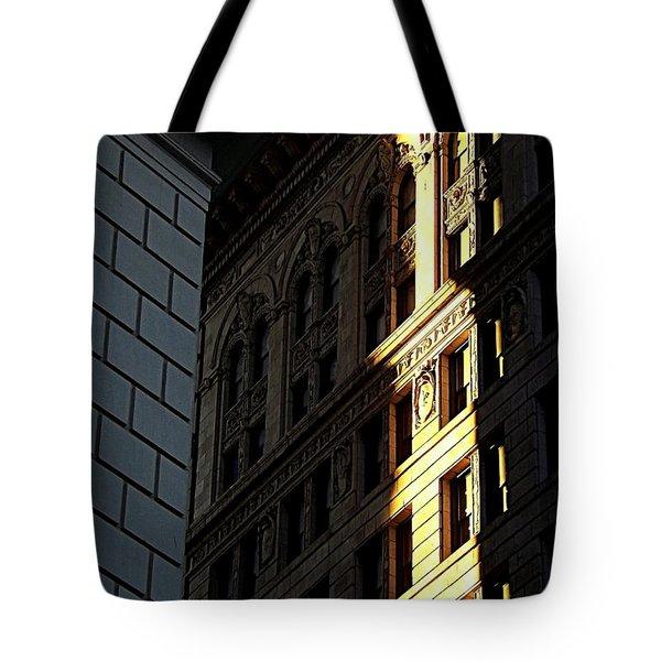 A Sliver Of Light In Manhattan Tote Bag by James Aiken