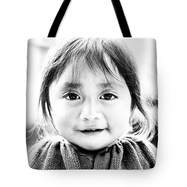 A Small Guatemalam Life - Black And White Tote Bag by Shelby  Young