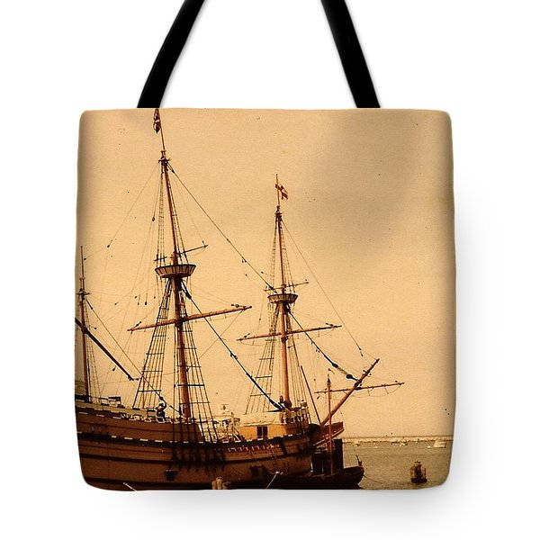 A Small Old Clipper Ship Tote Bag