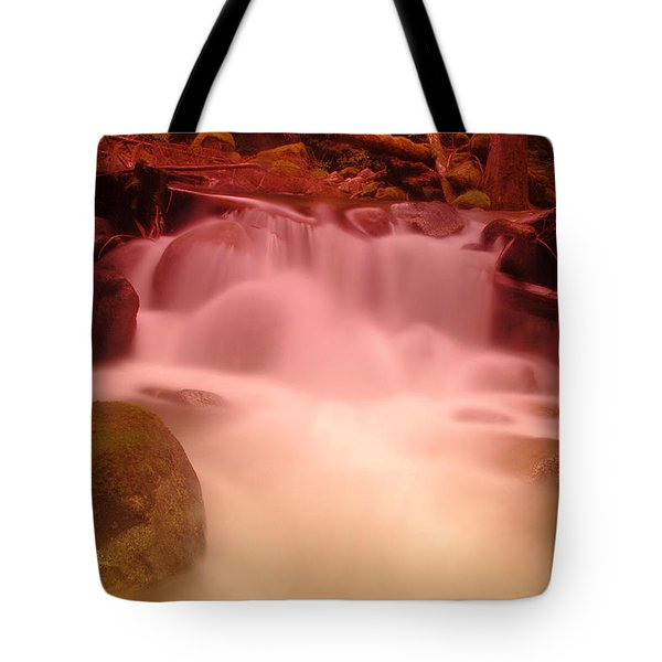 A Small Waterfall Along The Old North Cascade Highway  Tote Bag by Jeff Swan