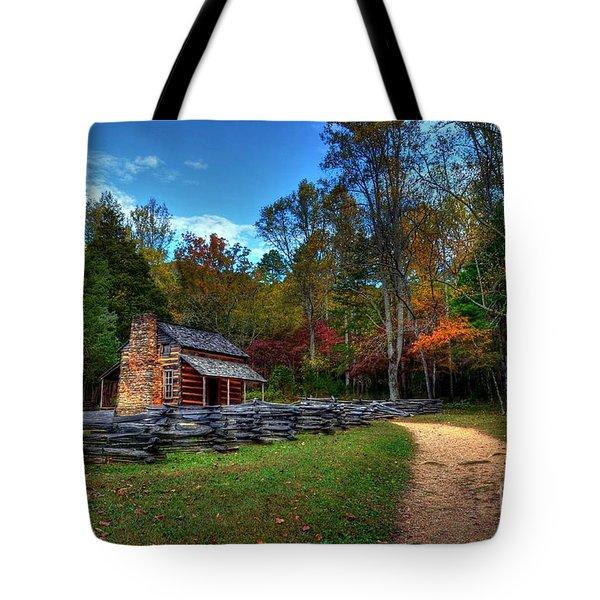 A Smoky Mountain Cabin Tote Bag