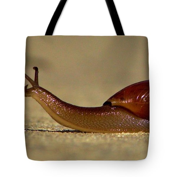 A Snails Pace Tote Bag