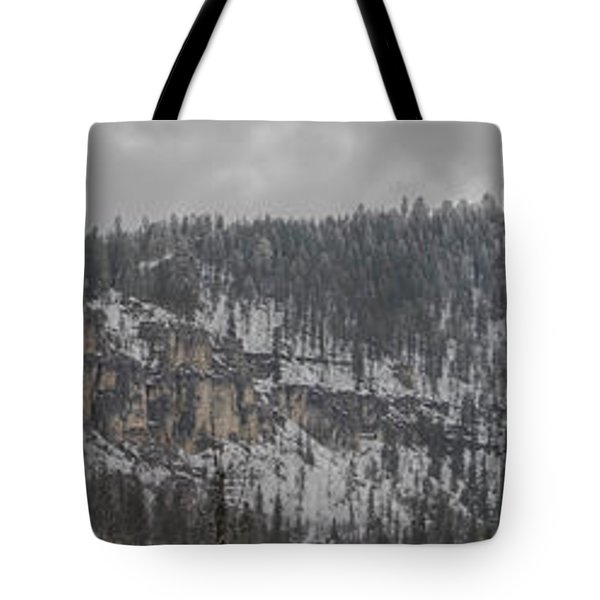 A Snowy Day In Spearfish Canyon Of South Dakota Tote Bag