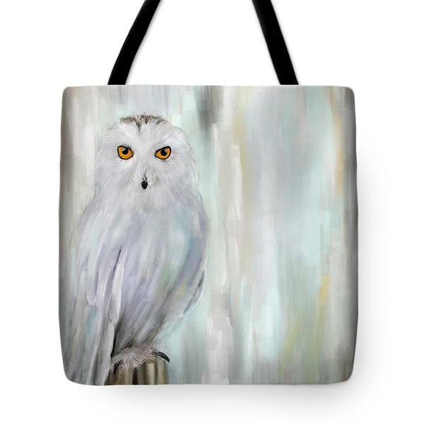 A Snowy Stare Tote Bag by Lourry Legarde