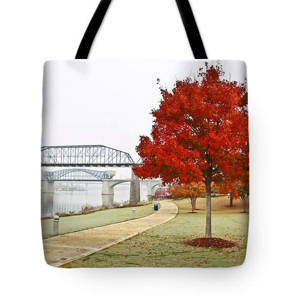 A Soft Autumn Day Tote Bag by Tom and Pat Cory