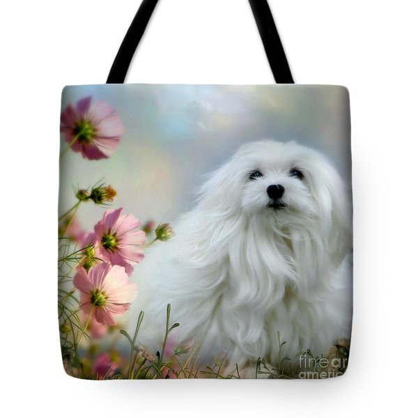 A Soft Summer Breeze Tote Bag by Morag Bates