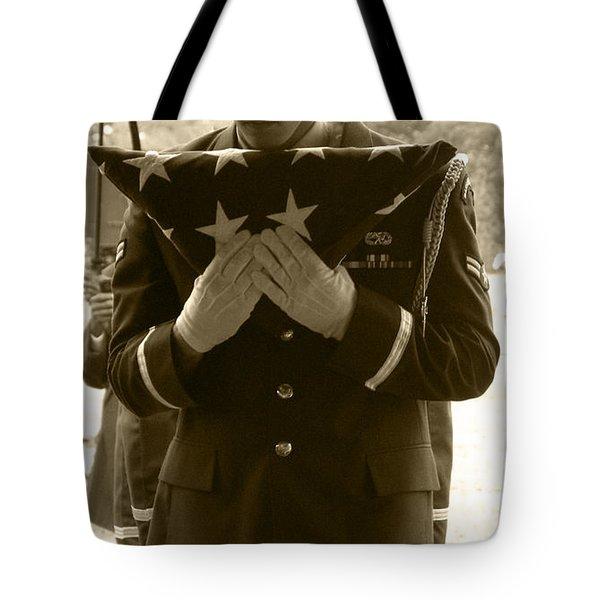 A Soldiers Sorrow II Tote Bag