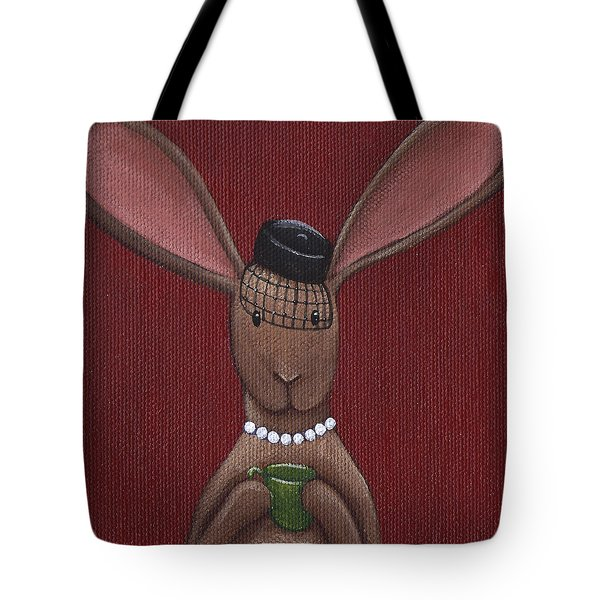 A Sophisticated Bunny Tote Bag