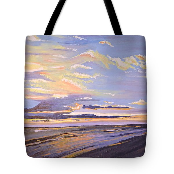 Tote Bag featuring the painting A South Facing Shore by Donna Blossom