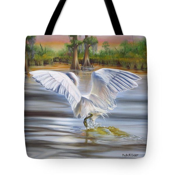 Tote Bag featuring the painting A Southern Sunrise by Phyllis Beiser