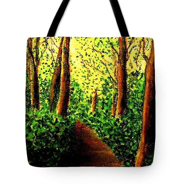 Tote Bag featuring the painting A Spiritual Awakening by Hazel Holland