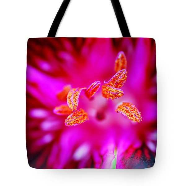 Tote Bag featuring the photograph A Splash Of Colour by Wendy Wilton