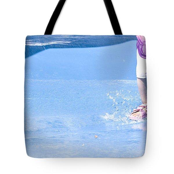 A Splishin' And A Splashin'  Tote Bag by Theresa Tahara