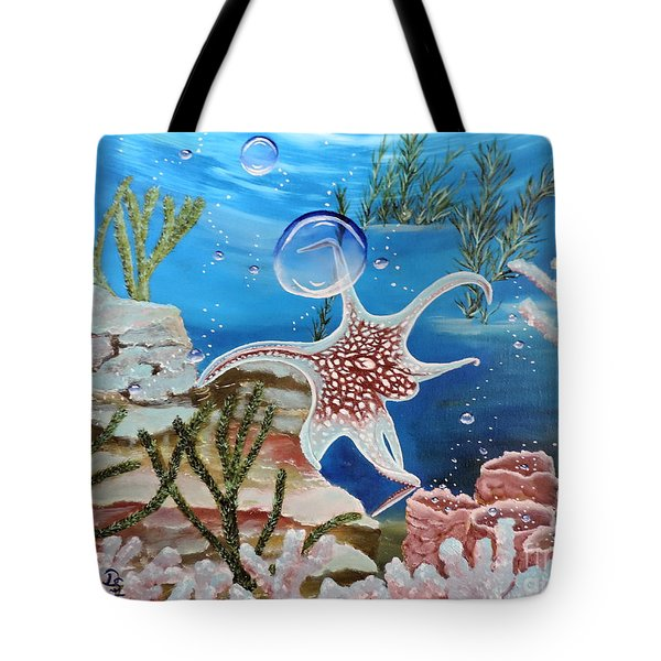A Squid Named Sid Tote Bag