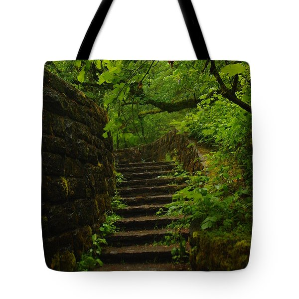 A Stairway To The Green Tote Bag