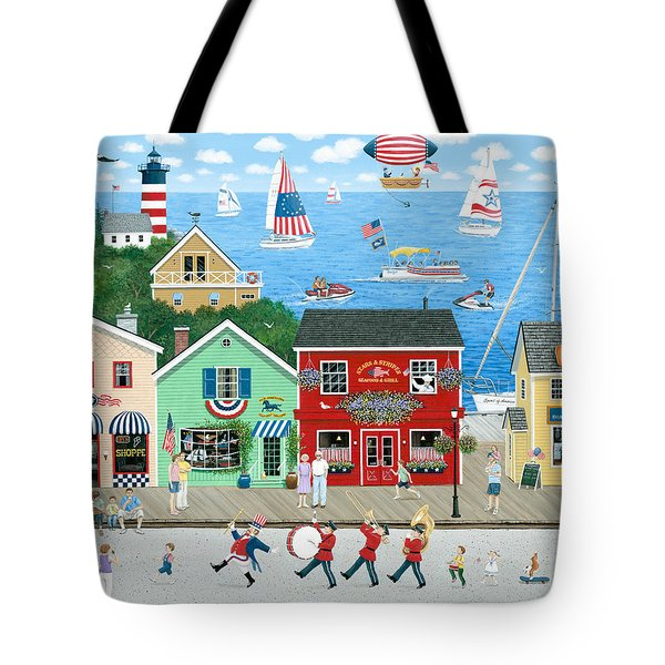 A Star Spangled Day   Tote Bag by Wilfrido Limvalencia