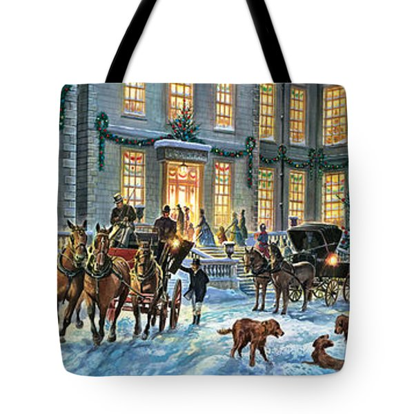 A Stately Christmas Tote Bag