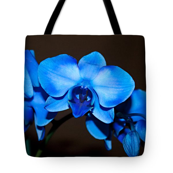 A Stem Of Beautiful Blue Orchids Tote Bag by Sherry Hallemeier