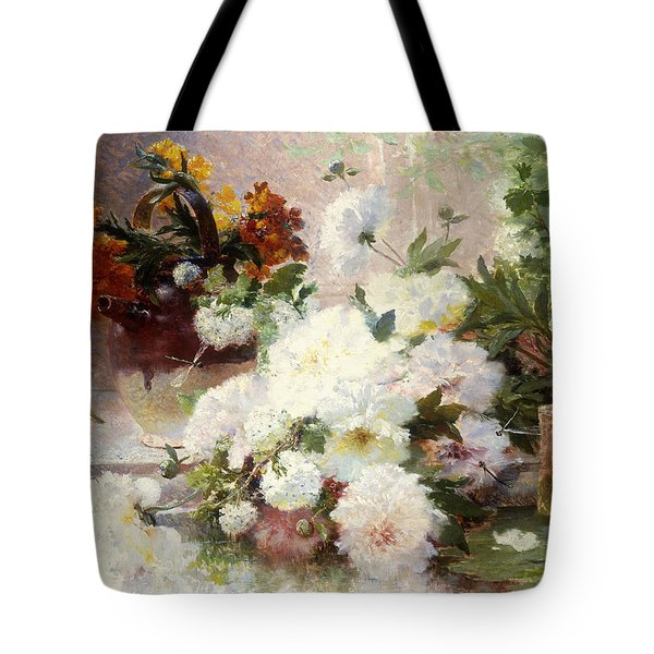 A Still Life With Autumn Flowers Tote Bag