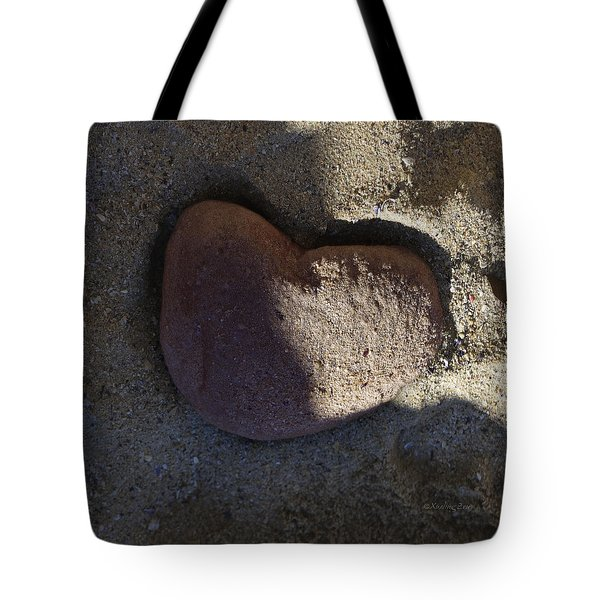 A Stone Heart Tote Bag by Xueling Zou