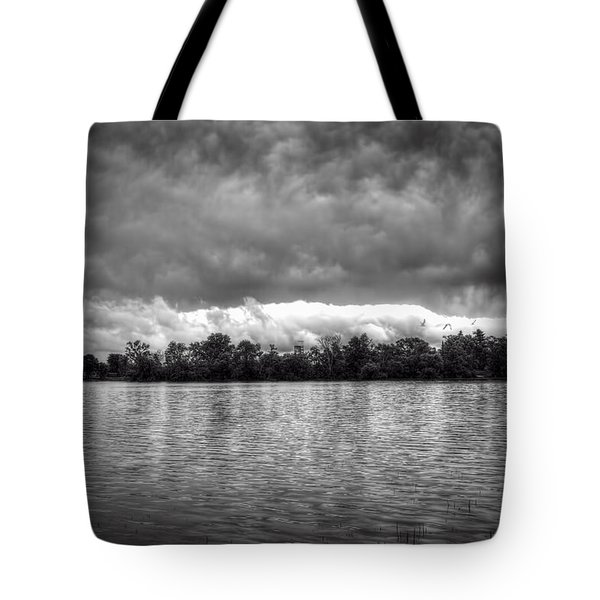 A Storm Rolls By Tote Bag by Thomas Young