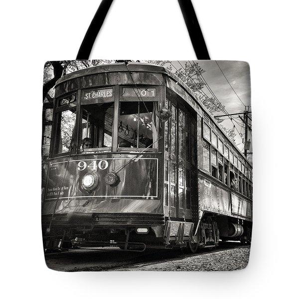 A Streetcar Named St Charles Tote Bag