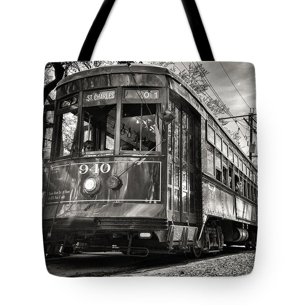 A Streetcar Named St Charles Tote Bag