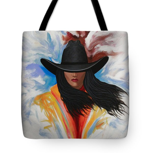 A Stroke Of Cowgirl Tote Bag by Lance Headlee