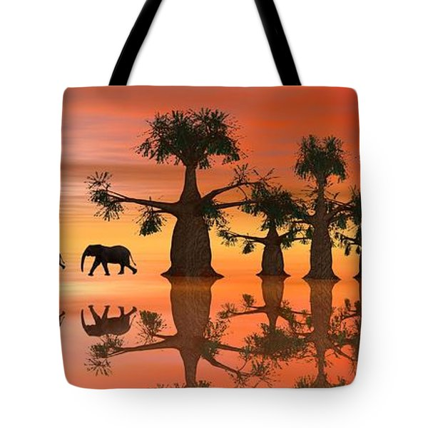A Stroll By Moonlight II Tote Bag