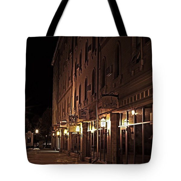 Tote Bag featuring the photograph A Stroll In The City by Deborah Klubertanz
