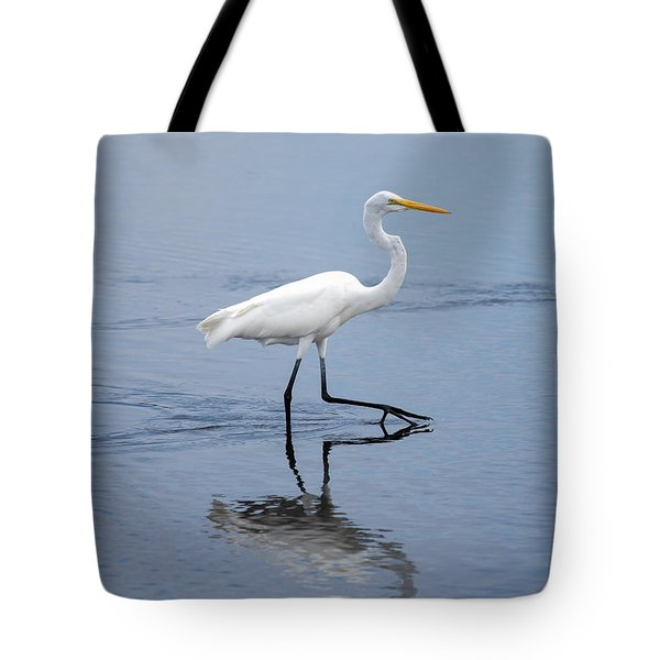 Tote Bag featuring the photograph A Stroll In The Marsh by John M Bailey