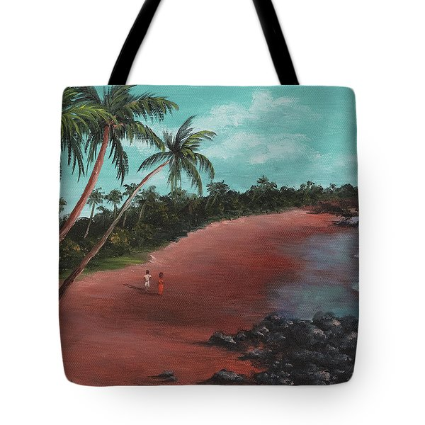 A Stroll On A Tropical Beach Tote Bag