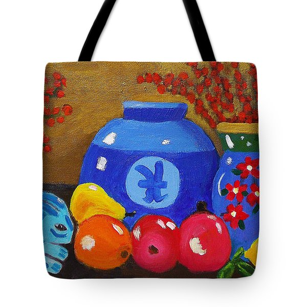 A Study In Blues Tote Bag