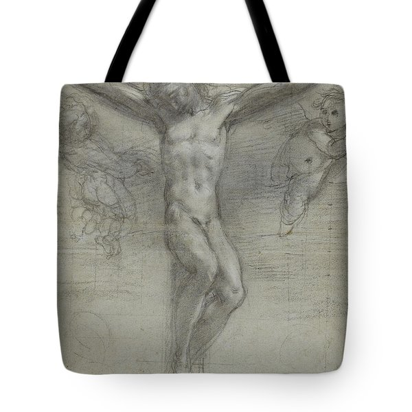 A Study Of Christ On The Cross With Two Tote Bag by Federico Fiori Barocci or Baroccio