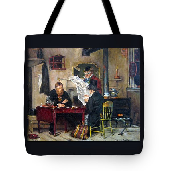 A Study Of Waiting For The Stage Tote Bag by Donna Tucker