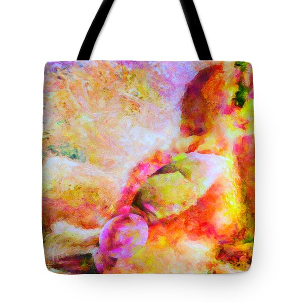 Tote Bag featuring the painting A Summer Afternoon Love by Joe Misrasi