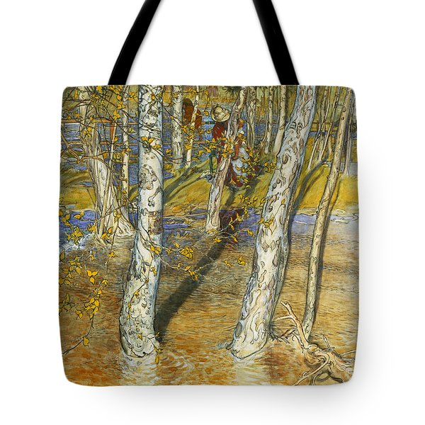A Summer Day On A Norwegian Fjord Tote Bag by Hans Dahl
