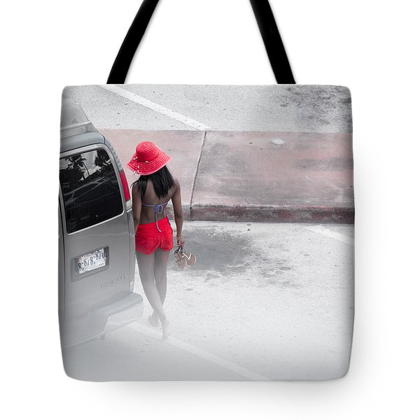 A Summer Splash Of Red  Tote Bag by Rene Triay Photography