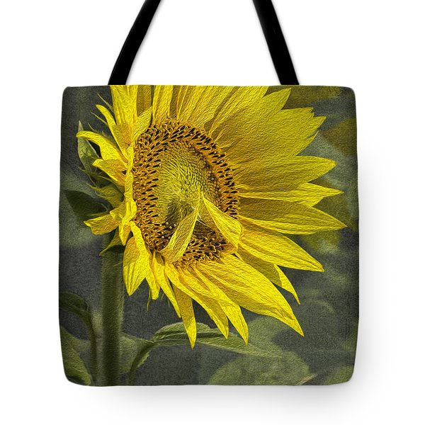 Tote Bag featuring the photograph A Sunflower's Prayer by Betty Denise