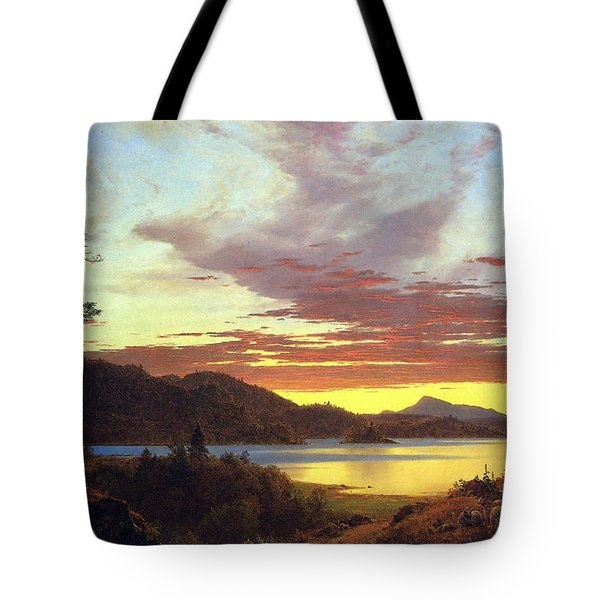 A Sunset By Frederick Edwin Church Tote Bag