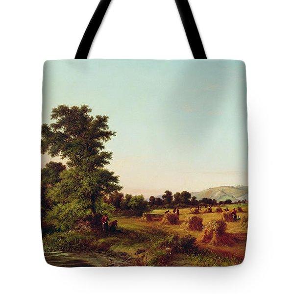 A Surrey Cornfield Tote Bag by Walter Williams