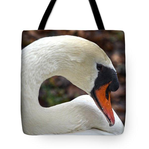 A Swan's Elegance Tote Bag