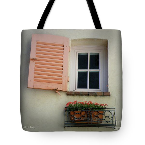 A Sweet Shuttered Window Tote Bag by Lainie Wrightson