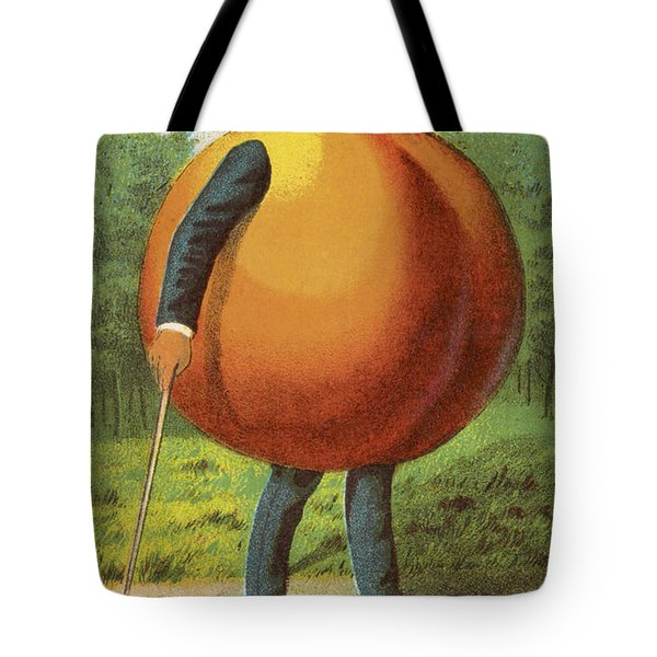 A Swell Peach Tote Bag by Aged Pixel