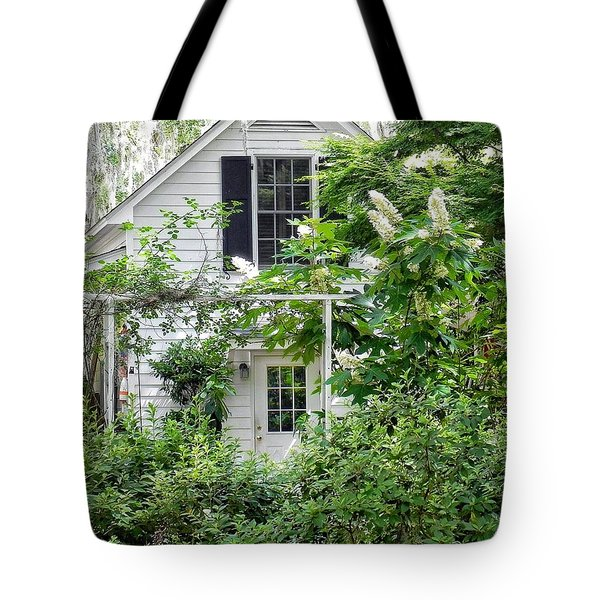 A Swell Side Entrance With Oakleaf Hydrangea Tote Bag