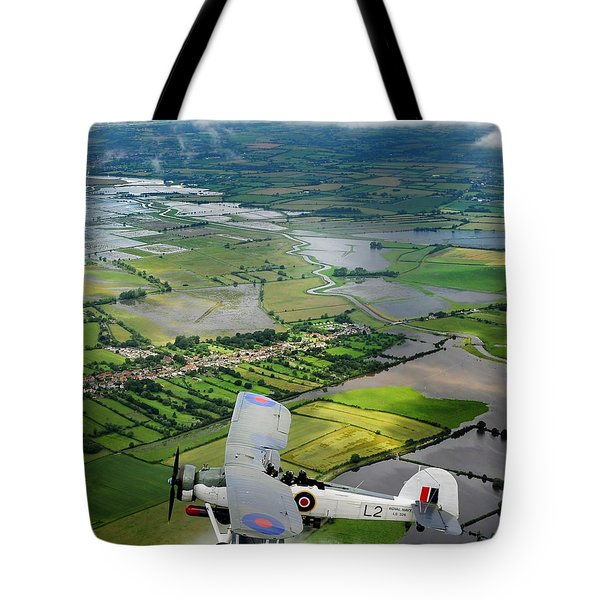 Tote Bag featuring the photograph A Swordfish Aircraft With The Royal Navy Historic Flight. by Paul Fearn