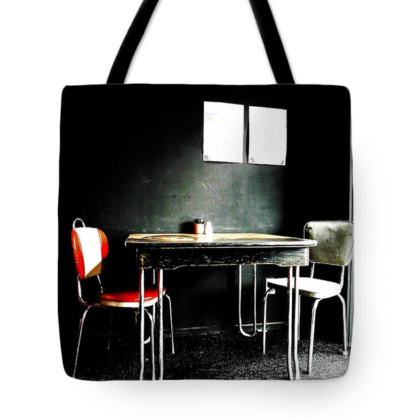 A Table For Two Tote Bag by Steve Taylor
