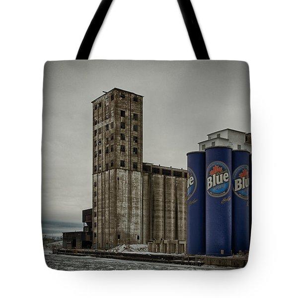 A Tall Blue Six-pack Tote Bag